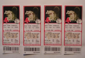 Red Sox/Yankees tickets