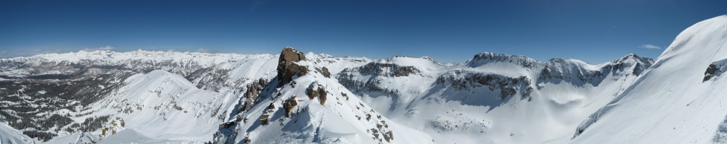 Panoramic view from Palmyra Peak, Telluride, CO