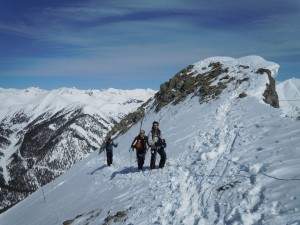 Hiking to the top of Silverton Mountain